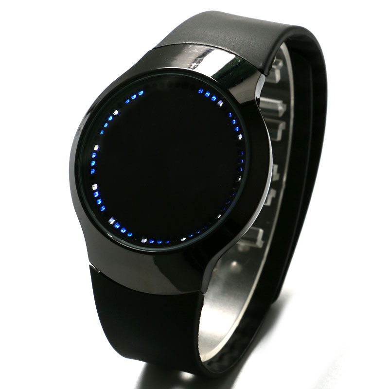 digital normal silver watch dp timepieces unisex grande watches extra black