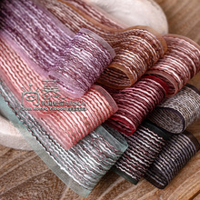 100yards 16/25/38mm wave stripes organza sheer ribobn for bouquet gift packing bow accessories wedding party decoration