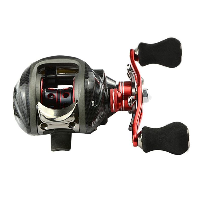 12BB 6.3:1 Right Hand Baitcasting Fishing Reel Bait Casting Reels Fishing Reels Red carretilha de pesca
