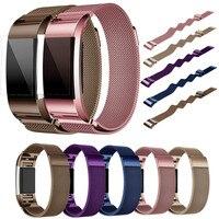 Drop shipping Milanese Paslanmaz Çelik Watch Band Kayış Bilezik + HD Film Için Fitbit Şarj 2 Ekim 7