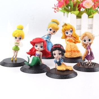 Фигурка принцессы Q Posket персонажи снег белый Золушка Рапунцель Belle Ариэль Тинкер Белл игрушки для принцесс подарок для девочки 6 шт./компл.