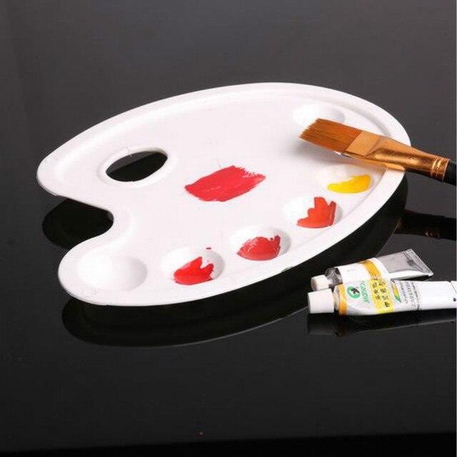 Conception Avec Le Pouce Trou Blanc Peinture Palette En Plastique
