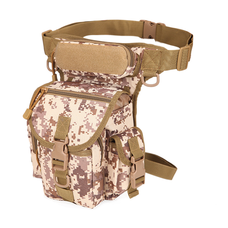 Desert Color Military Tactical Drop Leg Bag Tool Fanny Thigh Pack Hunting Bag Waist Pack Motorcycle Riding First Aid Kits