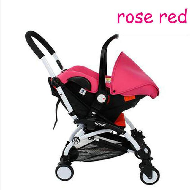 Cochecito de bebé de cuatro en una luz de color rojo doblado moda de coche de bebé de coche de bebé asiento de seguridad para 5month-72month bebé