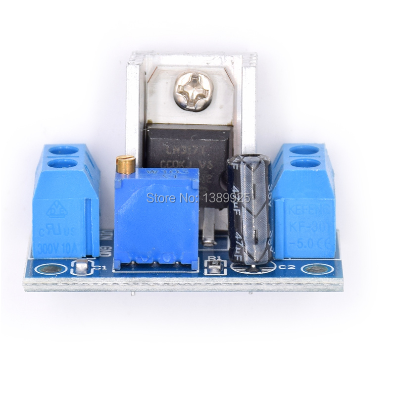 10pcs/lot  LM317 DC-DC Converter Buck Step Down Circuit Board Module Linear Regulator LM317 Adjustable Voltage Regulator