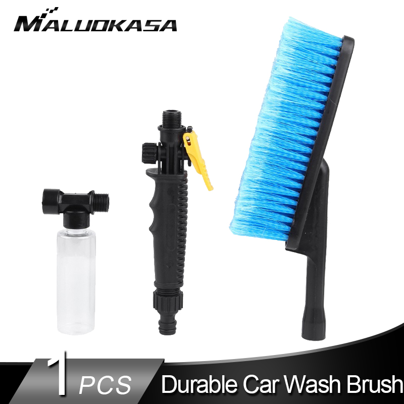 Car Wash Brush Durable Soft Auto Exterior Retractable Long Non-slip Handle Foam Bottle