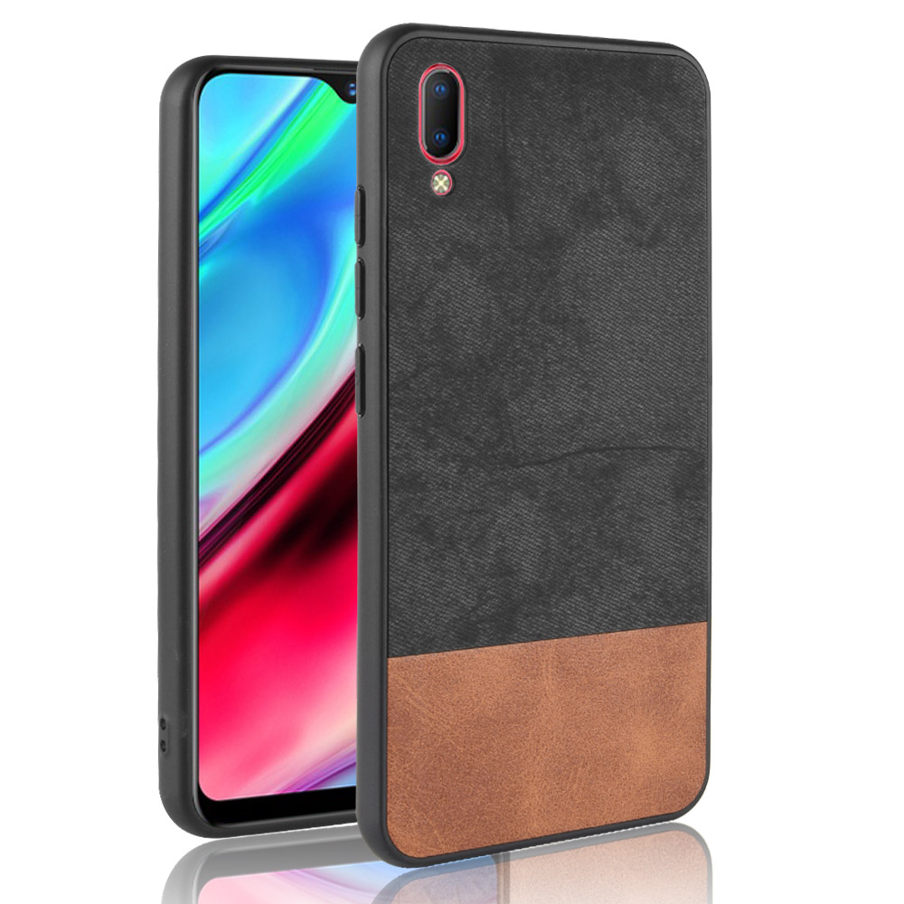 For vivo Y93 case Vivo Y93 cover silicone fabric color mixing cowboy PC+TPU+PU leather protective phone cover For vivo Y93 case