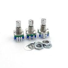 5 шт./лот 20 положение 360 градусов Поворотный энкодер EC11 w Кнопка 5Pin ручка длинной 15 мм со встроенным кнопочным переключателем