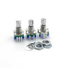 5 sztuk/partia 20 pozycja 360 stopni enkoder obrotowy EC11 w przycisk 5Pin uchwyt długi 15MM z wbudowanym przełącznikiem wciskany