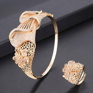 Image 4 - missvikki Dubai Gold color Jewelry Sets Bridal Gift Nigerian wedding accessories jewelry set Wholesale statement Brand jewelry