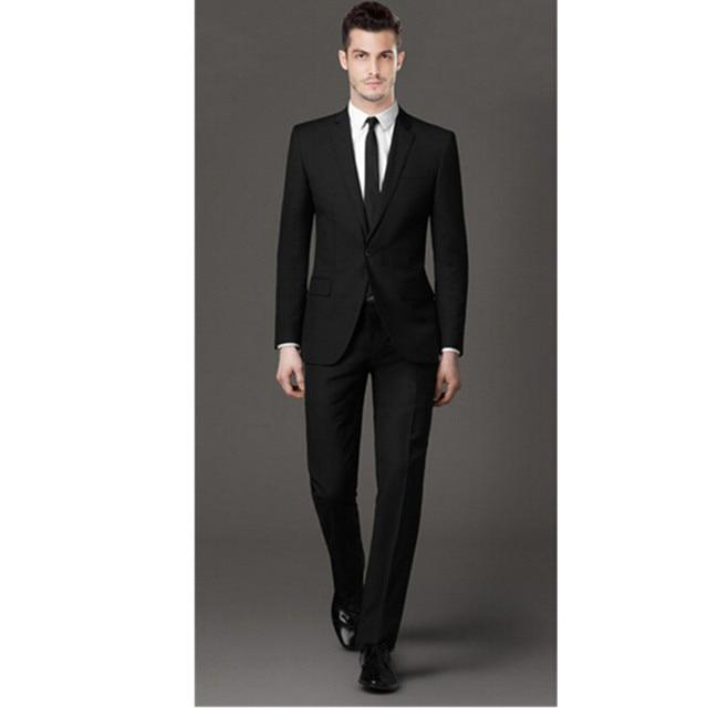 Men\'s black formal suit men\'s wedding the groom wear business suit ...