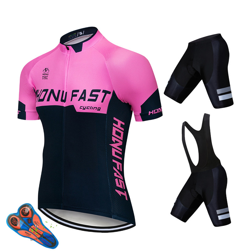 Summer Cycling Jersey Set Short Sleeve Men Bicycle Triathlon Clothes With Bib GEL Pad MTB Bike Cycling Uniform Cycling Skinsuit