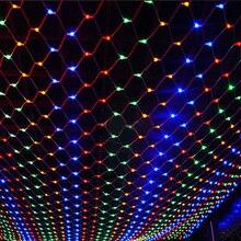 1 компл. новая светодиодная сетка Новогодние товары огни 3×2 м 200 светодиодов 3 цвета чтобы выбрать Открытый 220 В ЕС Разъем Водонепроницаемый чистый свет быстрая доставка