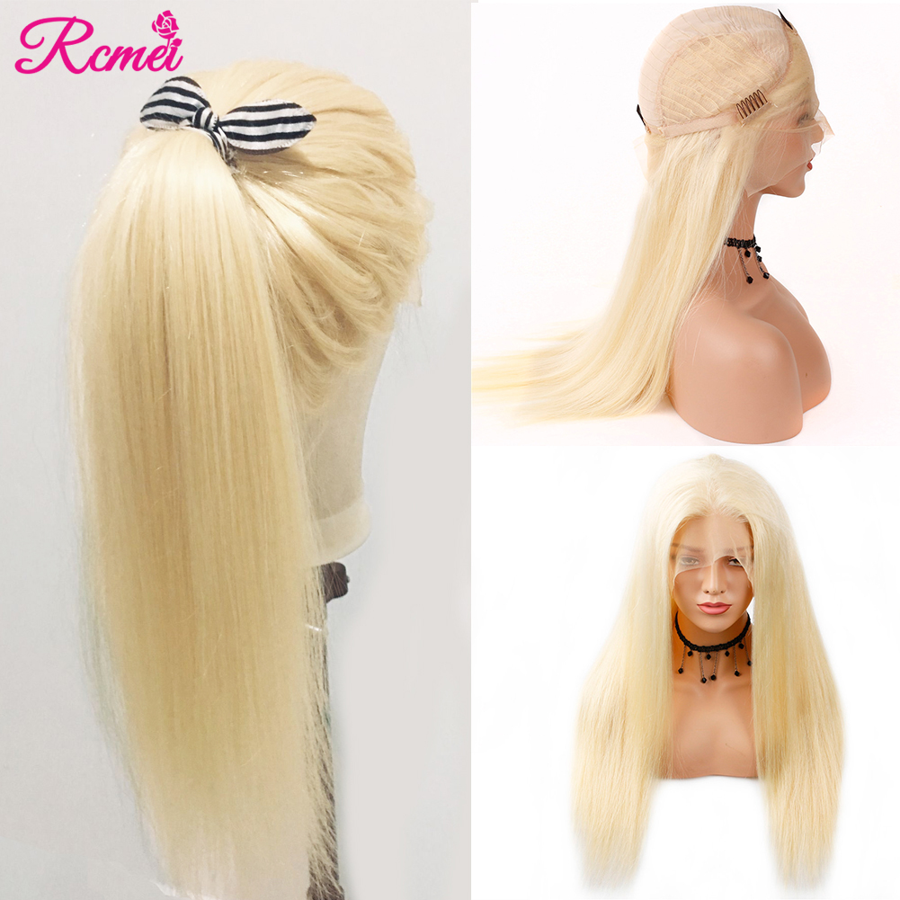 613 Blonde Lace Front Human Hair Wigs Brazilian Straight Hair 13 4 613 Transparent Lace Frontal