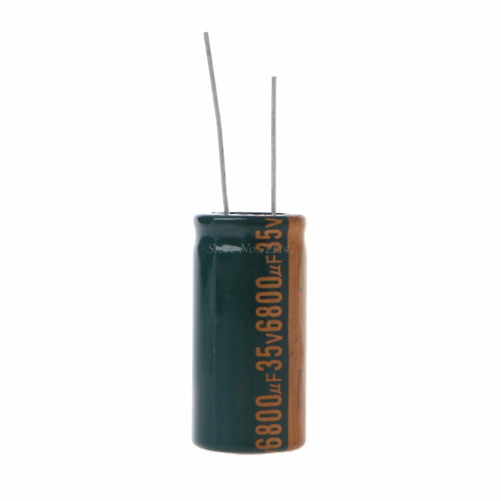 35V 6800uF Capacitance Electrolytic Radial Capacitor High Frequency Low ESR Dropship