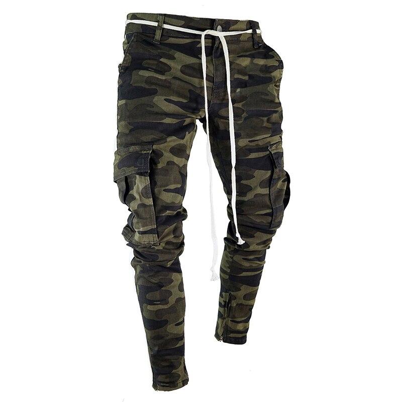 Брюки шаровары мужские, камуфляжные, повседневные, облегающие, с несколькими карманами, LBZ24 Повседневные брюки      АлиЭкспресс