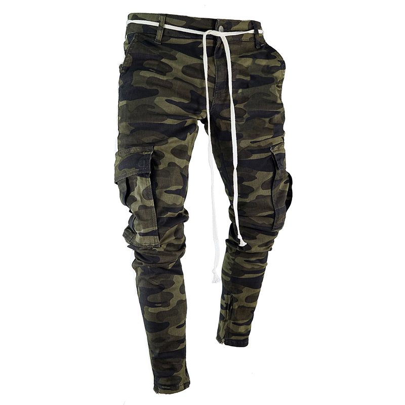 Drop Shipping Camouflage Streetwear Harem Men's Pants Casual Slim Fit Sweatpants Men Multi-pocket Camo Mens Joggers Pants LBZ24