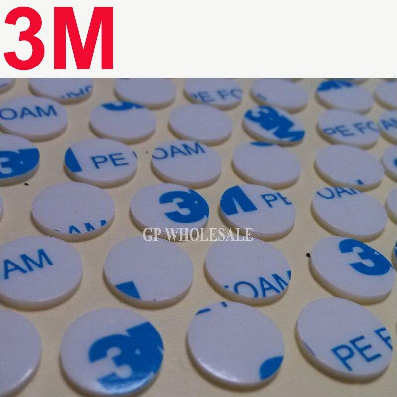 2000 pcs 3 m 1600 t 다이 커팅 두 얼굴 pe 폼 테이프/화이트 색상/1.1mm 두께/10mm 원형-에서사무실 접착 테이프부터 사무실 & 학교 용품 의  그룹 1