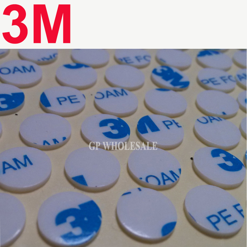 2000pcs 3M 1600T Die cutting two face PE Foam tape/ white color/ 1.1MM thickness/ 10MM Circle-in Office Adhesive Tape from Office & School Supplies    1