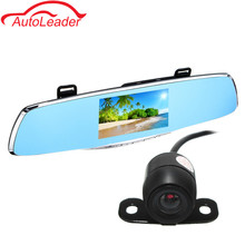 Cheap price Full HD 1080P Car DVR Camera Auto 4.3 Inch Rearview Mirror Digital Video Recorder Dual Lens Registratory Camcorder