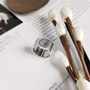 Image 2 - LouLeur 925 sterling silber kaiserin avatar ringe silber mode vintage figur zeigefinger offene ringe für frauen edlen schmuck