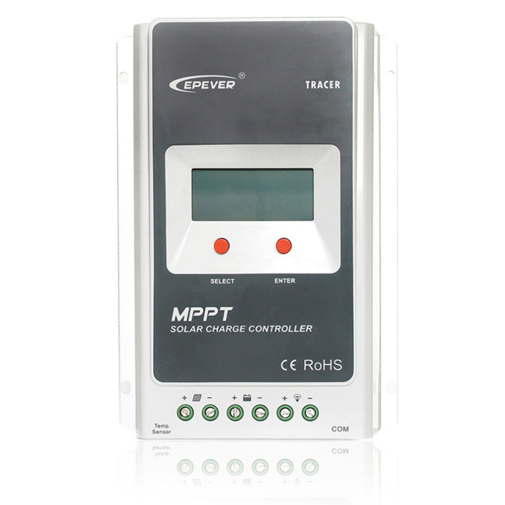 MPPT 10A Solar Charge Controller Battery Regulator 12V/24V DC Automatic With LCD Display PV Reverse Polarity Protect 1210A 10a mppt solar charge controller remote meter mt50 epever battery regulator 100v pv input 12v 24vdc auto with lcd display