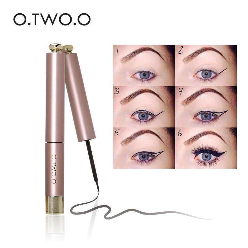 O.TWO.O, 2 шт./набор, водонепроницаемая черная жидкая подводка для глаз + тушь для ресниц, косметика для бровей, длительный эффект, набор для женщин, подарок