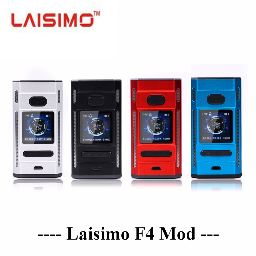 NEW Laisimo F4 360W TC Box Mod electronic cigarette box mod 360w powered by 2 OR 4 Batteries fit for ammit RTA SIREN V2 TANK