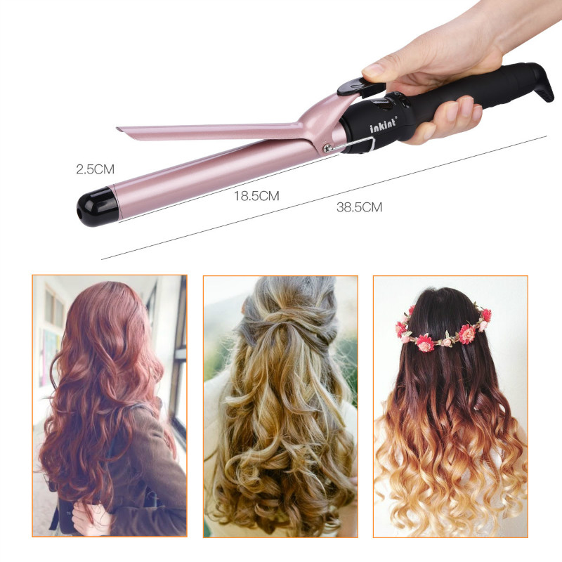 LCD 25mm 32mm Hair Curler Roller Fast Heating Ceramic Wave Hair Curl Magic Curling Wand Iron Hair Styler Hair Care Styling Tools professional ceramic hair curler styler steam spray automatic curl fast heating hair styling tool magic hair curling iron wand34
