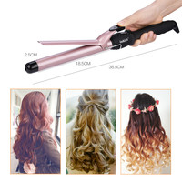 LCD 25mm 32mm Hair Curler Roller Fast Heating Ceramic Wave Hair Curl Magic Curling Wand Iron Hair Styler Hair Care Styling Tools