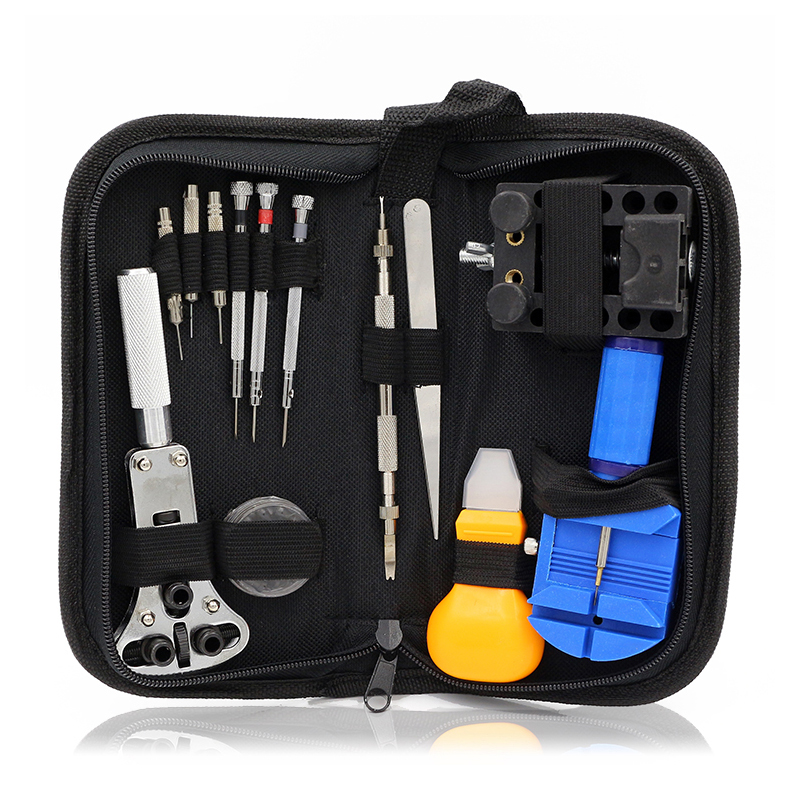 Watch Repair Tool Kit Set Watch Case Opener Link Spring Bar Remover Screwdriver Tweezer Watchmaker Dedicated Device watch link removal kit adjuster repair tool set with 5 pins