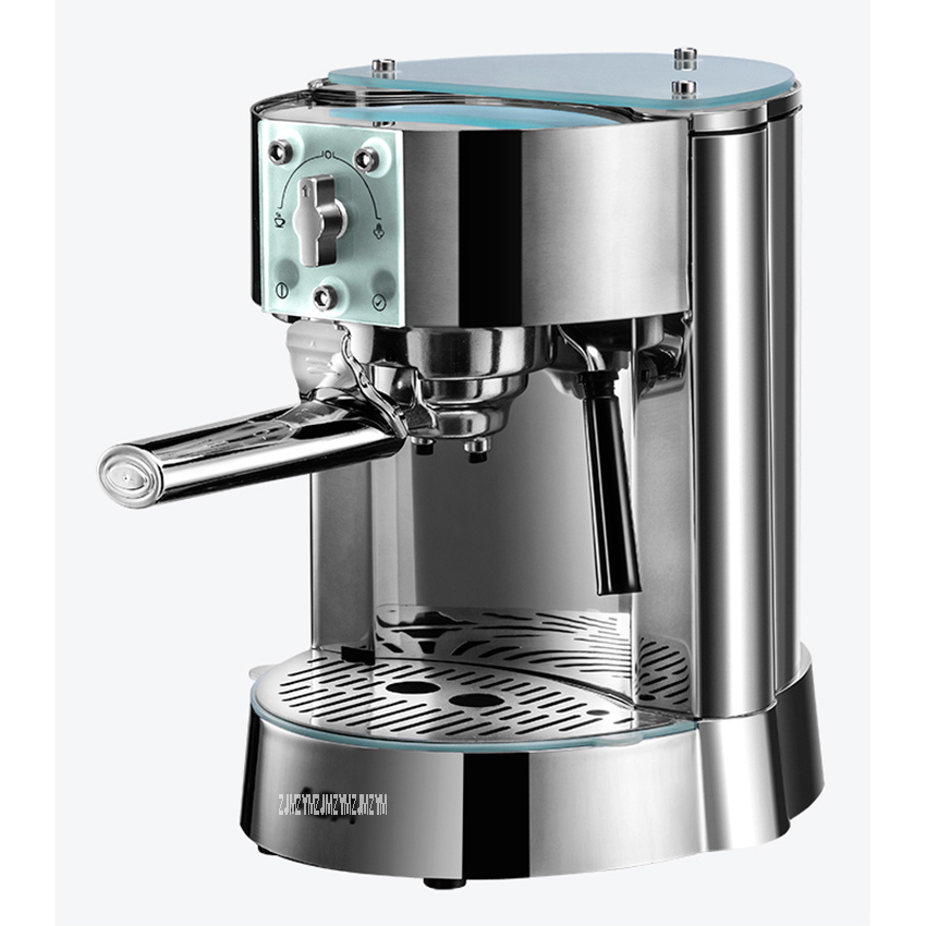 AC-EG10B 1250W Italian Home Semi-automatic Coffee Machine 15bar Pump Pressure Stainless Steel 42 Seconds To Warm Up 220V 1L