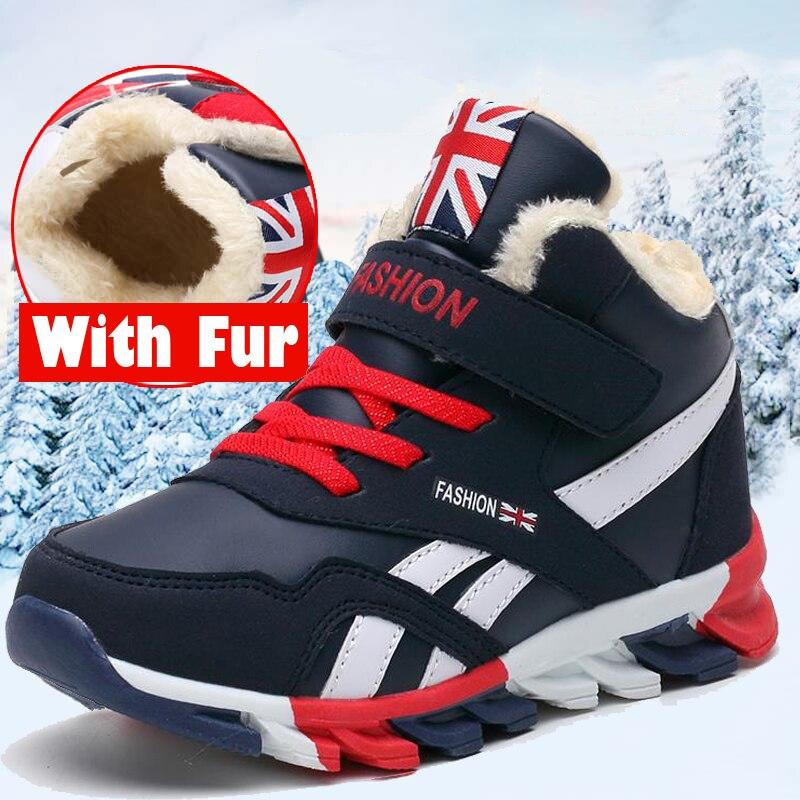 Chaussures enfants pour garçon bottes d'hiver pour garçons raquettes enfants baskets pour filles chaussures garçon bambin chaussures bottes de fourrure enfants