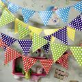 1 pc 250 cm Decoração Dot Festa de Aniversário Banners bandeiras corda do jardim de Infância das Crianças Organizar Puxar Bandeira s2