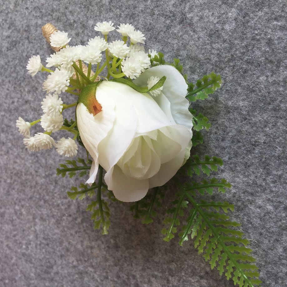 Artificial flower buttonhole groom boutonnieres best man wedding artificial flower buttonhole groom boutonnieres best man wedding flowers bouquet accessories pin party suit decoration in artificial dried flowers from izmirmasajfo