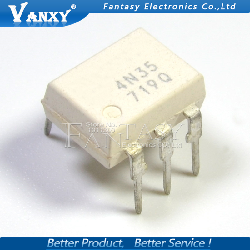 10PCS 4N35 DIP6 DIP Photoelectric Coupler New And  Original