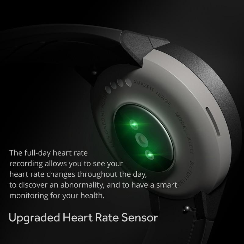 Global Version Amazfit Verge Smartwatch GPS Answer Calls Heart Rate Sleep Monitor Music Smart Watch IP68 Waterproof 11 Sports - 2