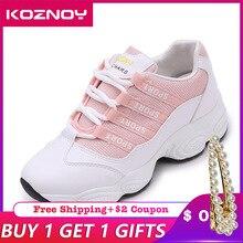Koznoy Sneakers Women Autumn Breathable Mesh Dropshipping Leisure Korean Version Fashion Flat Bottom Portability Shoes