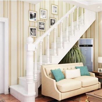 Beibehang papel de parede Non - woven fabrics simple wallpaper wedding room bedroom living room color vertical striped wallpaper