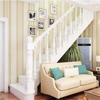Beibehang papel de parede Non woven fabrics simple wallpaper wedding room bedroom living room color vertical striped wallpaper