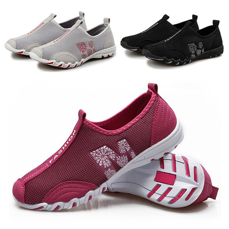 Summer Lady Sport Walking Fashion Wemon Casual Shoes,Super Soft High Quality Breathable Beach Air Mesh Shoes 2016 year end clearance sale women casual shoes summer lady soft fashion shoes high quality breathable shoes mm x02