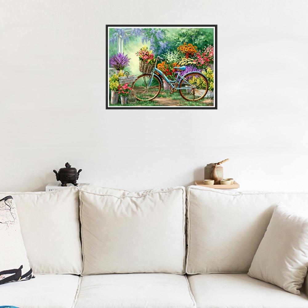 ₩5d DIY diamante pintura flor Cuadros de punto de Cruz Flores y ...