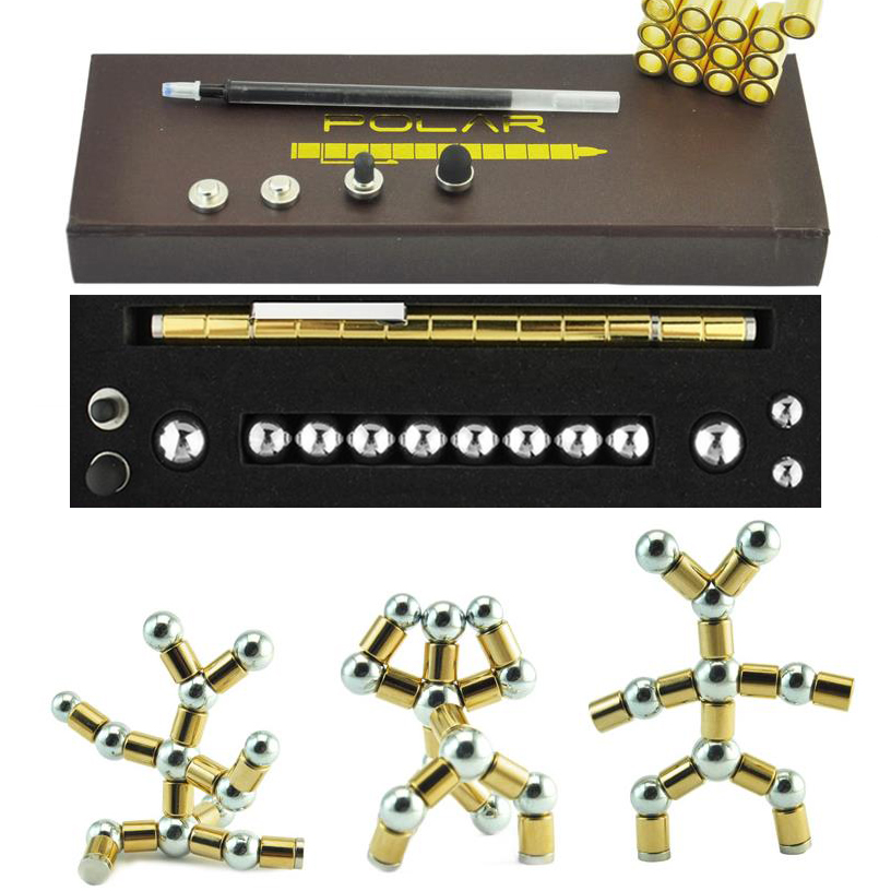 Hohe Qualität Kugelschreiber Zappeln konzentrieren Magie Magnetische kapazität ball polar stift Antistress-Spinner Tri-Spinner 03655