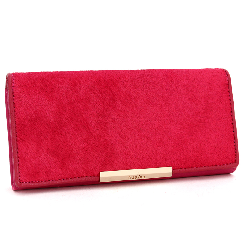 Bogesi New 2018 100% Genuine Leather Womens Wallet Wholesale Long Wallets Card Holder Fashion Real Horse Hair Leather Purse