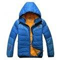 2016 nova Marca Famosa jaqueta de inverno LVK homens patchwork pato quente para baixo casaco jaqueta com capuz à prova de vento outwear parka alta qualidade
