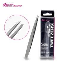 Jellend Slant Pincet Premium Hoge Precisie Wenkbrauw Pincet Roestvrij Staal Gezicht Ontharing Tool Voor Vrouwen Make Up