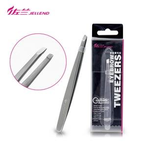 Image 1 - Jellend Slant Tweezers Premium High Precision Eyebrow Tweezer Stainless Steel Face Hair Removal Tool For Women Makeup
