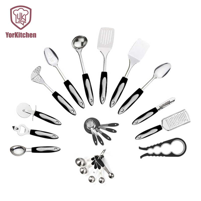 Perfect Cheap Price Stainless Steel Cooking Tool Sets Cooking Utensils font b Gadgets b font 14pcs