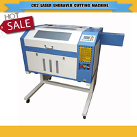 220V/110V CO2 laser glass engraving machine/ cnc laser cutter 4060/6040 for acrylic/ wood /plywood with 400*600mm work size