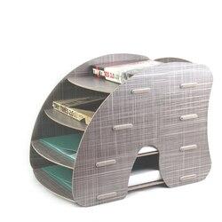 CARB для утилизации для творчества DIY офисного рабочего стола деревянные, для канцтоваров держатель 4 Слои A4 файл зажимы органайзера держател...